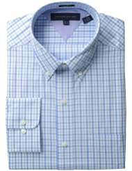 Tommy Hilfiger 新加坡产 汤米希尔菲格 男子商务经典小格子衬衫$37.73