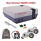 Cheap New Version! Retroflag NESPi Case+ Plus with USB Wired Game Controllers & Cooling Fan & Heatsinks for RetroPie Raspberry Pi 3/2 Model B & Raspberry Pi 3B+