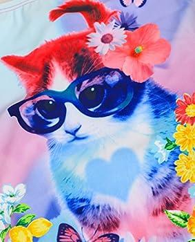 iDrawl One Piece Swimsuit Beach Cute Cat Bathing Suit