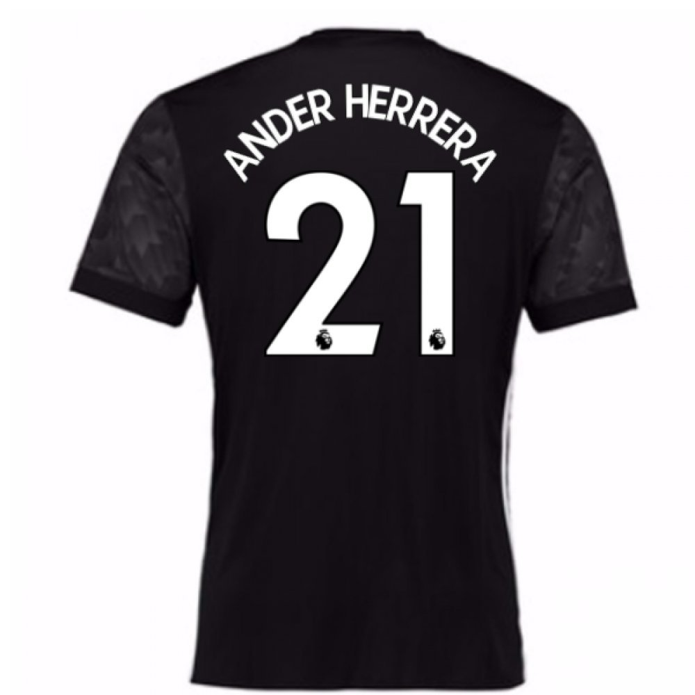 2017-18 Man Utd Away Football Soccer T-Shirt Trikot (Kids) (Ander Herrera 21)
