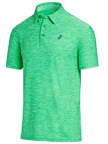Jolt Gear Golf Shirts for Men - Dry Fit Short-Sleeve Polo, Athletic Casual Collared T-Shirt Green - Gear Green T-shirt