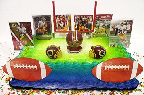 WASHINGTON REDSKINS Team Themed Football Birthday Cake Topper ()