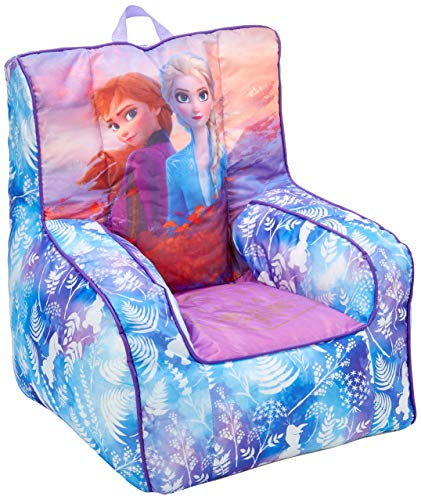Disney Frozen 2 Kids Nylon Bean Bag Chair with Piping & Top Carry Handle with Olaf Graphics