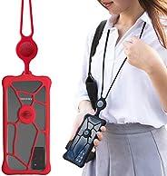 Bone Lanyard Phone Bubble Tie 2, Universal Phone Anti-Shock Bumper Case, Adjustable Neck Strap for Apple iPhon