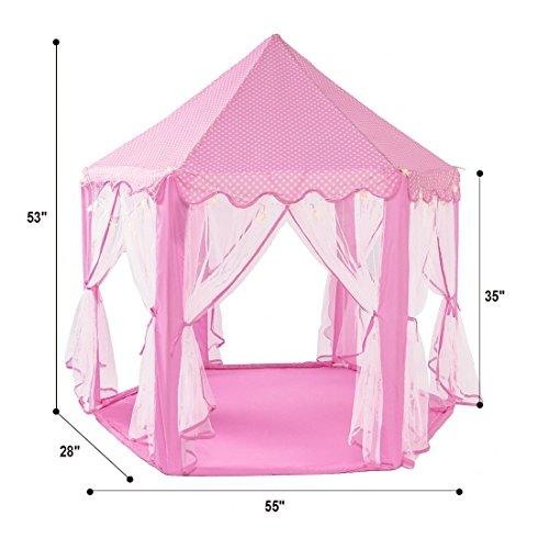springbuds pink princess castle kids play tent large. Black Bedroom Furniture Sets. Home Design Ideas