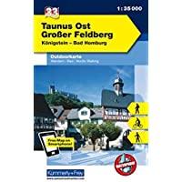 Deutschland Outdoorkarte 33 Taunus Ost, Großer Feldberg 1 : 35.000: Königstein - Bad Homburg (Kümmerly+Frey Outdoorkarten Deutschland, Band 984)