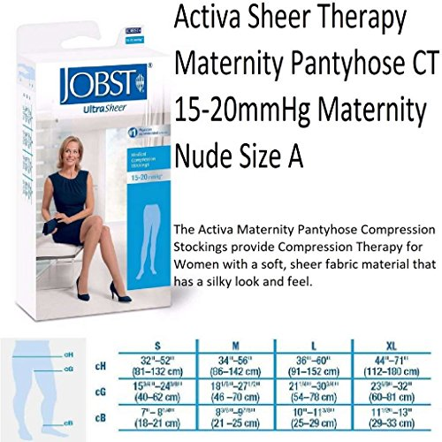 BSN Medical/Jobst H2901 Activa Sheer Therapy Stocking, Maternity, 15-20 mmHg, Nude, Size A, Pair