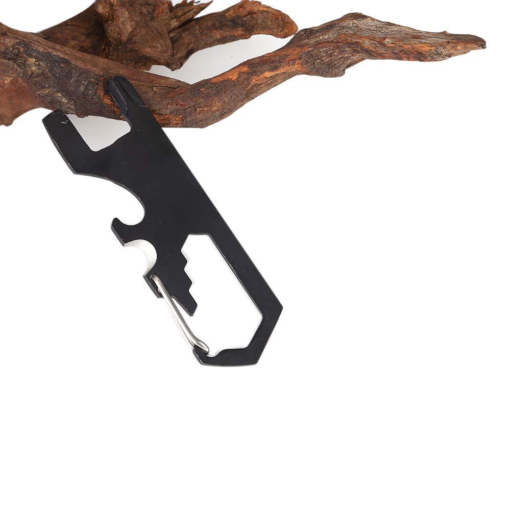 Bornbayb Key Chain Multi Tool, Outdoor Multifunctional Stainless Steel Keychain Carabiners Screwdriver Bottle Opener Camping Tool
