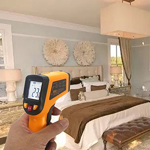 KETOTEK IR Infrared Thermometer,Non-contact Digital Laser Infrared Thermometer Temperature Gun -58℉- 1112℉(-50℃ - 600℃)with LCD Display for Kitchen Food Meat BBQ Automotive and Industrial by KETOTEK (Image #7)