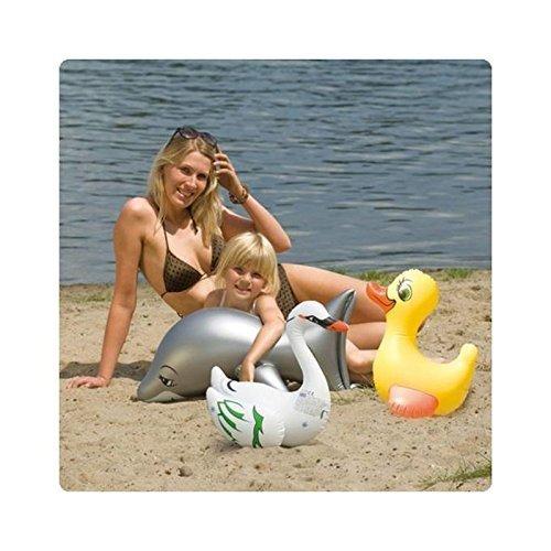 Kleine wassertierchen Para Inflar/FLOTADOR ANIMAL/Animal hinchable CISNE: Amazon.es: Juguetes y juegos