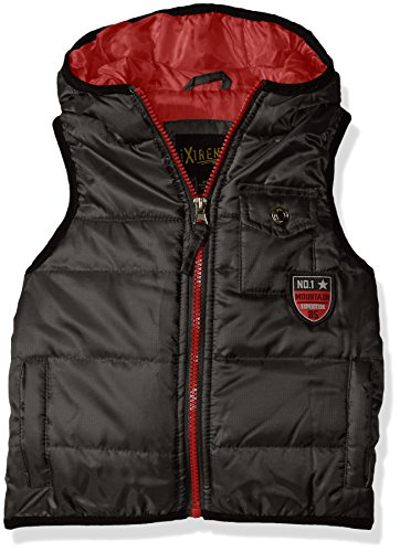 iXtreme Big Boys' Puffer Vest W/ Patch, Black, 18