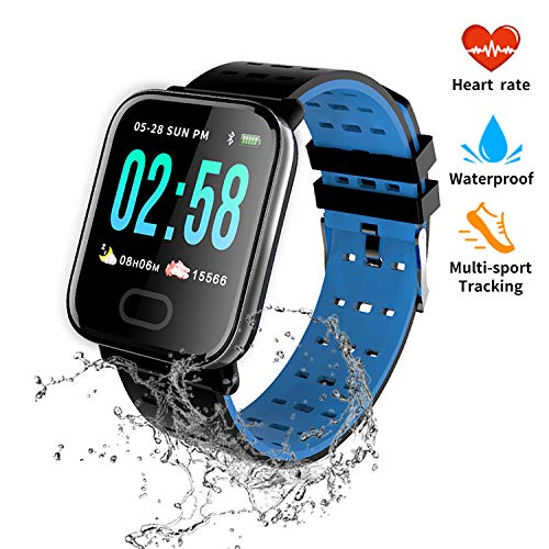 nicegh Activity Tracker,Smartwatch with Blood Press Heart Rate Monitor, 1.3 Color Screen IP67 Waterproof FitneTracker,Sleep Monitor Calorie Counter, Pedometer for Men Women and Kids
