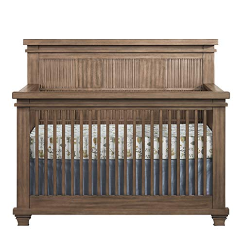 Oxford Baby Mayfield 4 in 1 Convertible Crib, Amber Brown