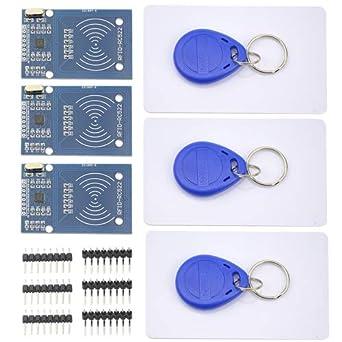 Amazon.com: WGCD RC522 - Llavero de 3 piezas con sensor de ...