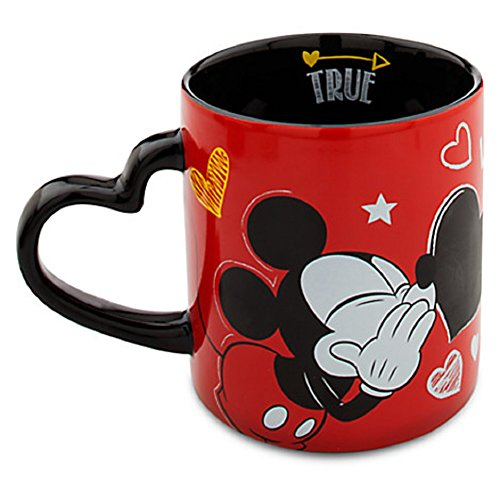 (Disney Store Mickey Mouse Heart Mug I Love Mickey Collection with Chalk Valentines Day)