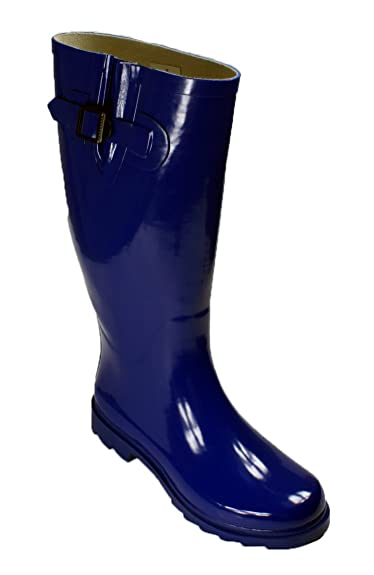 Amazon.com | New Womens Rain Boots Size Wellies Flat Wellington ...