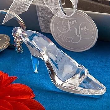Amazon.com: 40 Cenicienta zapato Zapato de vidrio llavero ...