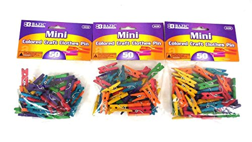 Bazic Craft Colored Clothespins Clothes