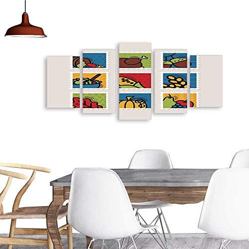 UHOO Canvas Prints Wall ArtThanksgiving Day Stamp Set Harvest5. Living Room Bedroom Home Decorations