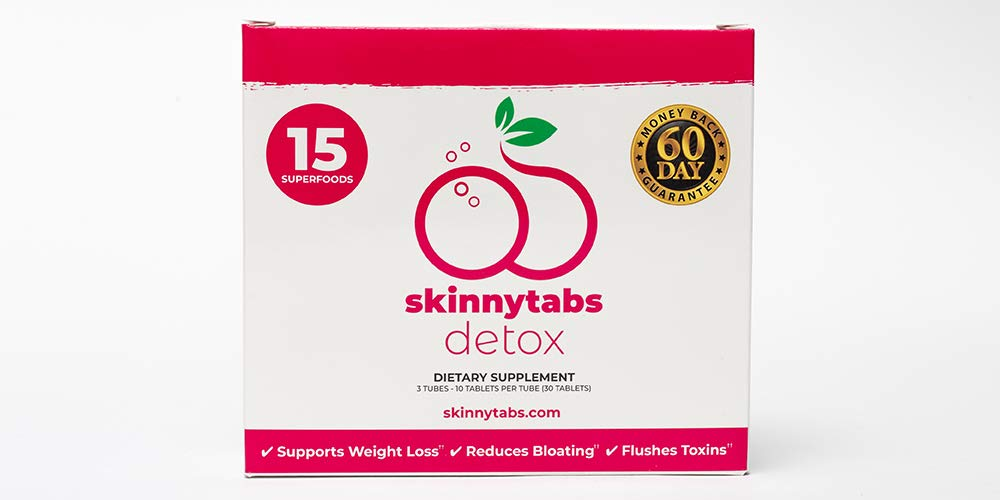 Skinnytabs -- Berry Flavor -- Effervescent Skinny Tabs Detox -- 15 All-Natural Superfoods, Laxative-Free, 30 Servings -- Sugar-Free, Low Carb -- Flush Toxins, Reduce Bloating & Supercharge Metabolism by Skinnytabs (Image #5)