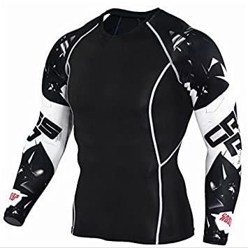 Rashguard Sportshirt Camiseta de compresión Camiseta de compresión Mens Compression Camisetas 3d Teen Wolf Jersey manga