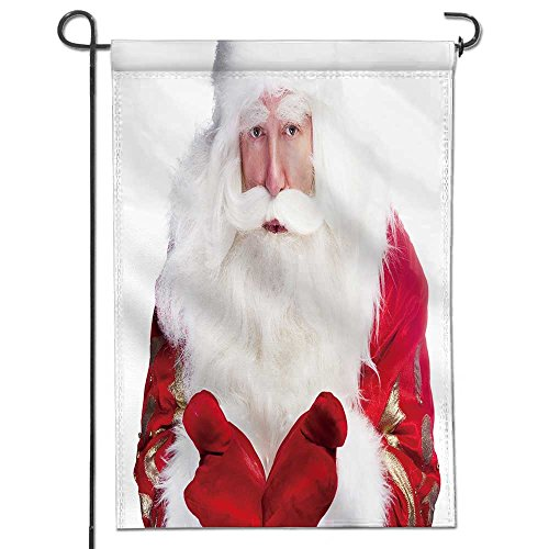 UHOO2018 Welcome Garden Flag Christmas theme Santa Claus bow