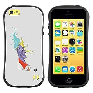 "Hypernova Slim Fit Dual Barniz Protector Caso Case Funda Para Apple iPhone 5C [Caricatura de la historieta minimalista Hombre""]"