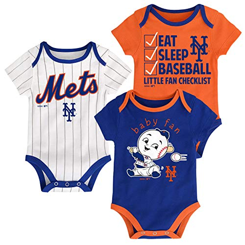 - Outerstuff MLB Newborn Infants Play Ball 3 Piece Creeper Body Suit (24 Months, New York Mets)