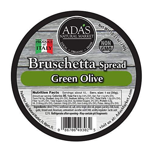 ADA'S Natural Market Green Olive Bruschetta Spread - 10.23 OZ ()