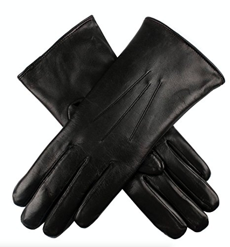 Dents Ladies Kangaroo Leather Gloves Cashmere Wool Lined Winter Women's (with Gift Box) (Small, Black) by Dents