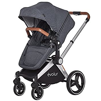 Evolur Nova Reversible Seat Stroller, Grey