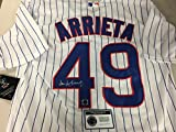 Jake Arrieta Autographed Signed Authentic Majestic White Chicago Cubs Jersey Certified Authentic Hologram & Coa Card