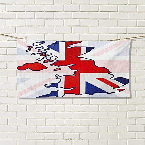 Chaneyhouse Union Jack,Travel Towel,Faded United Kingdom Fla