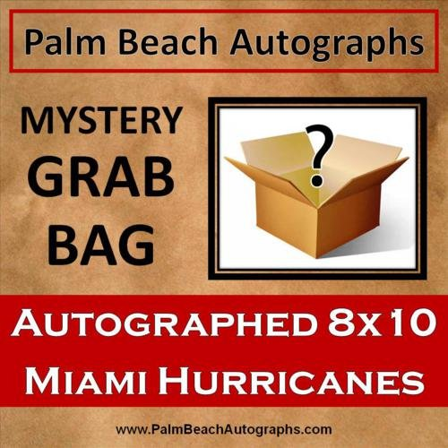 MYSTERY GRAB BAG - Miami Hurricanes Autographed 8x10 -