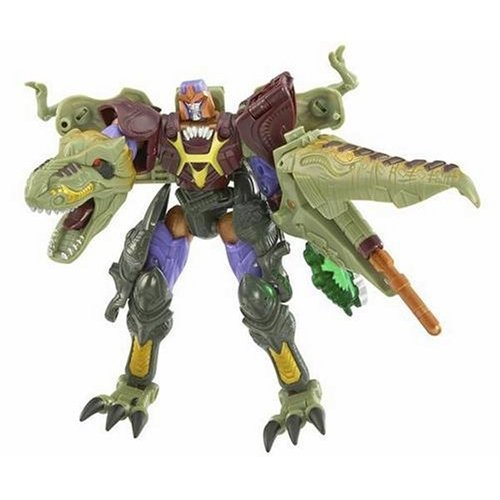 Transformers Year 2006 Cybertron Series Jungle Planet Deluxe Class 6 Inch Tall Robot Action Figure - Decepticon Leader MEGATRON with Missile Launcher and Cyber Planet Key (Beast Mode : T-Rex)