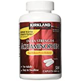 Kirkland Signature Extra Strength Acetaminophen 500MG Caplets, 500-Count Bottle (Pack of 2, 1000 Total Caplets)