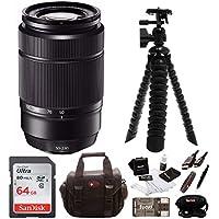 Fujfilm XC 50-230mm F4.5-6.7 OIS II Lens (Black) w/Focus Camera 64gb Gadget Bag