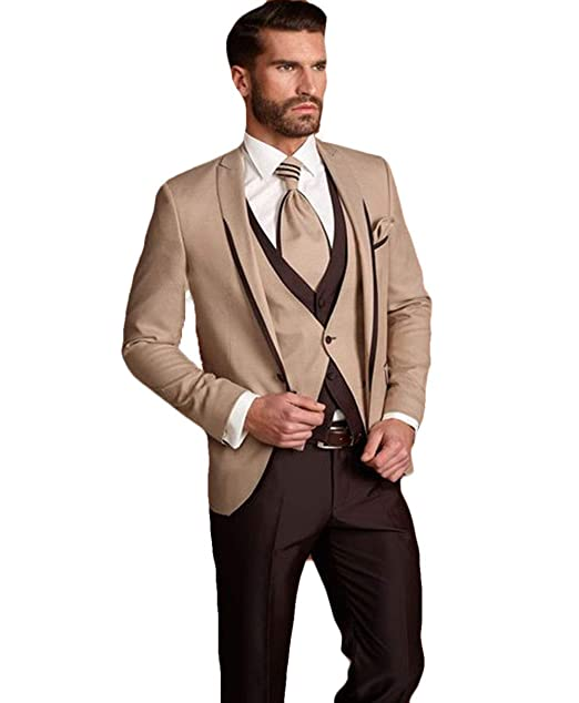 Amazon.com: WZW - Traje de hombre de 3 piezas (chaqueta + ...