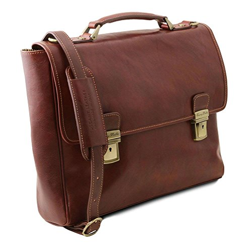 Shoulder Tuscany Brown Leather Compact Brown Bag Tl141662 Leather For Woman qd8wntT