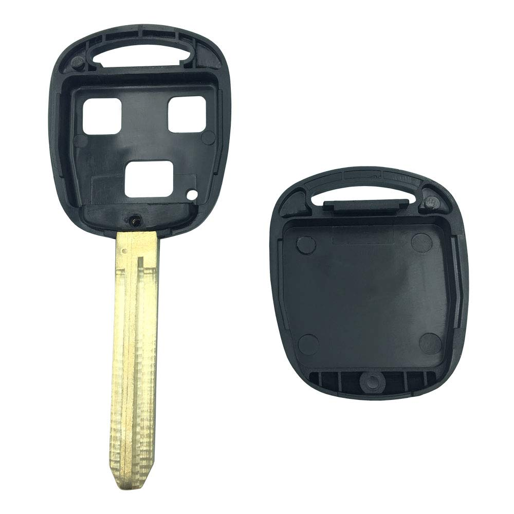 New Uncut Key Case Shell for Toyota Land Cruiser Prado Camry Highlander RAV4 Matrix Remote Key Replacement Key Blank