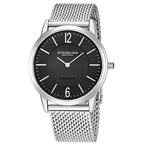 Mens Elite Bracelet Watch - Stuhrling Original Men's 122.33111 Classic Ascot Somerset Elite Swiss Quartz Watch with Mesh Bracelet