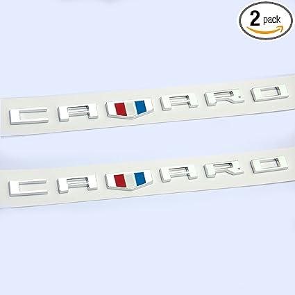 Yoaoo 2x OEM Camaro Letter Emblem 3D Badge Rs Ss Zl1 Z28 Chevy Matte Black