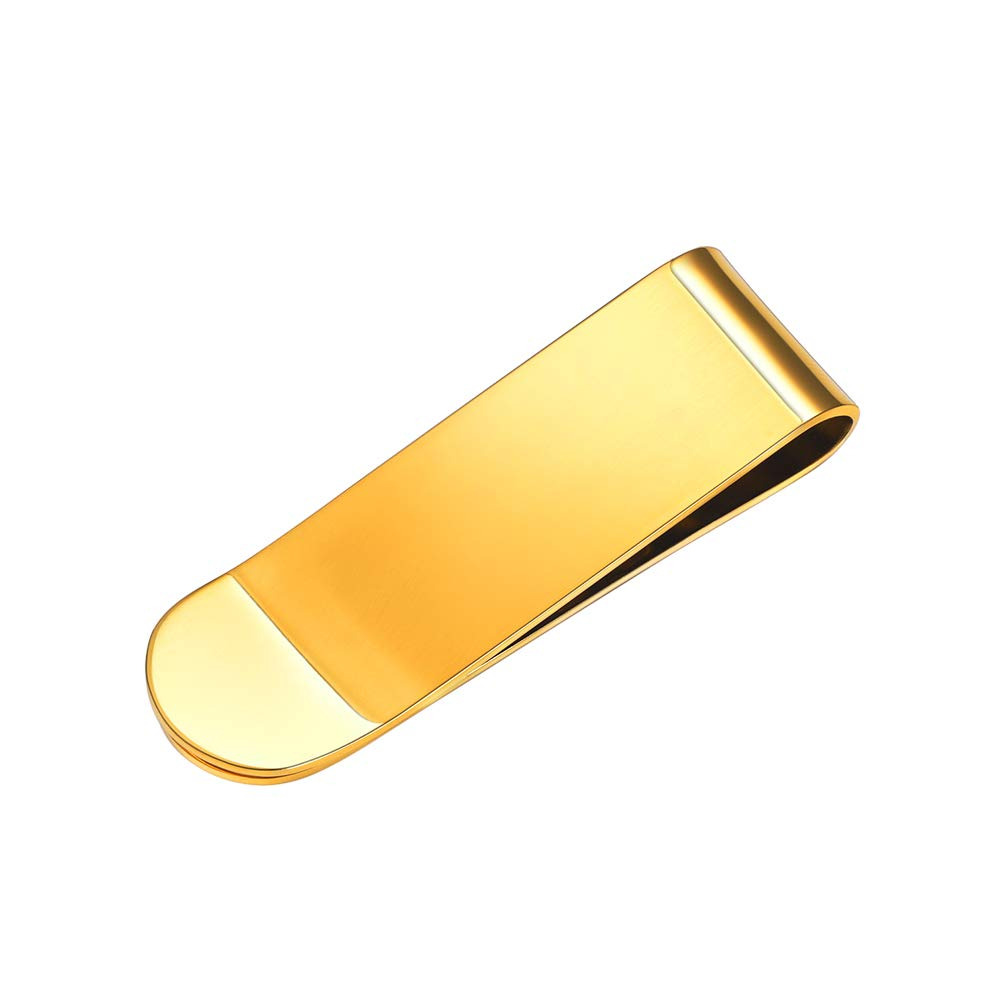 Money Clips For Guys Best Man New Year Gift for Men Gold Plated Stainless Steel Wallets Clip