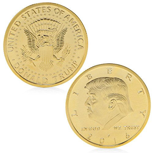 Non-currency Coins - Collectible Coin President Donald Trump In God We Trust Gold Plated Commemorative Token Gift - Cards Floatie Yu-gi-oh Costume Jumpsuit Book Earrings Yugioh Card Pants F