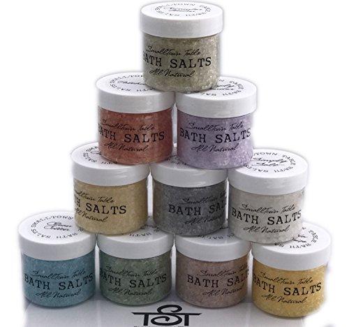 Bath Salt Dead Sea Salts Assorted 10 Variety ALL NATURAL Organic Relax Calm Energy Soak away Stress Breathe Find your Favorite