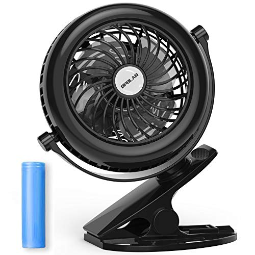 - OPOLAR Battery Operated Clip on Fan, Strong Clamp, 4 Speeds, 360 Degree Rotation Fan for Baby Stroller, Golf Cart, Hurricanes, Treadmill, Outdoors