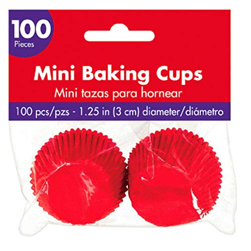 Mini Cupcake Wrappers | Apple Red | Party Supply | 1200 Ct. by amscan