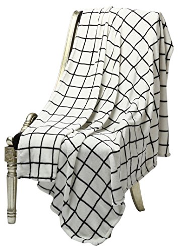 "Bertte 2 Pack Ultra Velvet Plush Super Soft Decorative Throw Blanket-50 x 60"", Black& White Plaid- Pack of 2 - Throw size: 50 by 60-inch. 2-Pack, half-price for the second one This Super Soft throw blanket does not Sheds, Fade, Shrinkage or Pilling Perfect for snugging and ideal to wrap you in that make you feel cozy and warm - blankets-throws, bedroom-sheets-comforters, bedroom - 51sz10gQDyL -"
