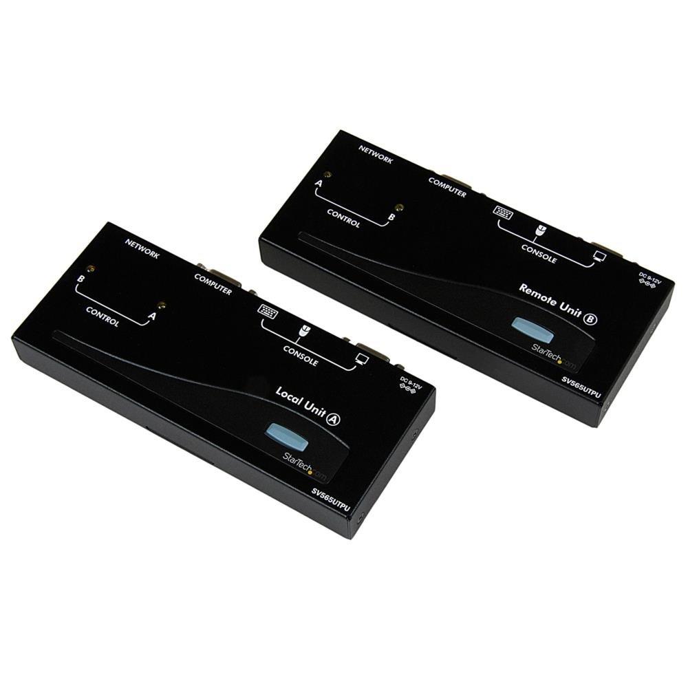 StarTech.com 500ft VGA KVM Over IP Extender - PS/2 & USB Host - KVM Console Over CAT5 Ethernet for Multiple Servers/Computers (SV565UTPU) by StarTech