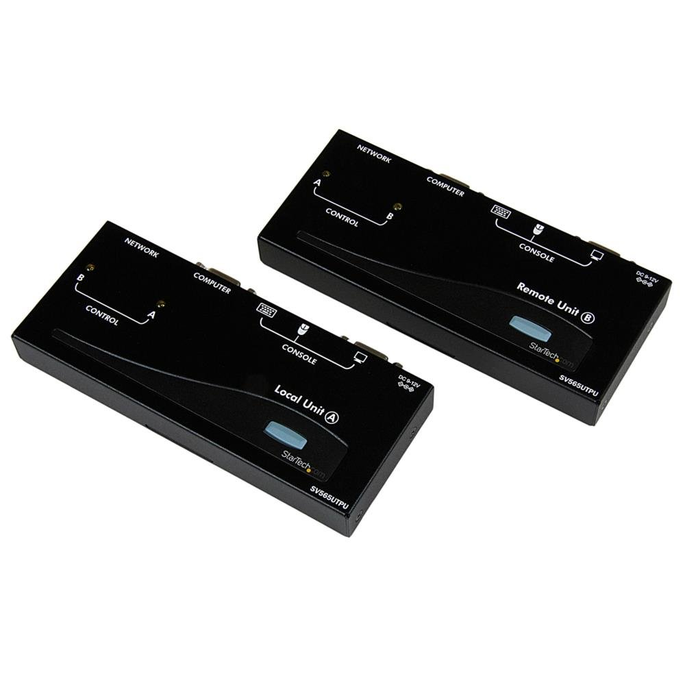 StarTech SV565UTPU VGA USB KVM Console Extender over CAT5 UTP 500-ft (Black) by StarTech